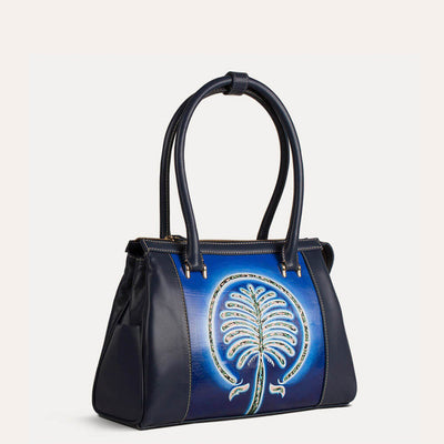 Palm shoulder bag in Royal Blue for bold office look. Shop at pauladamsworld.com