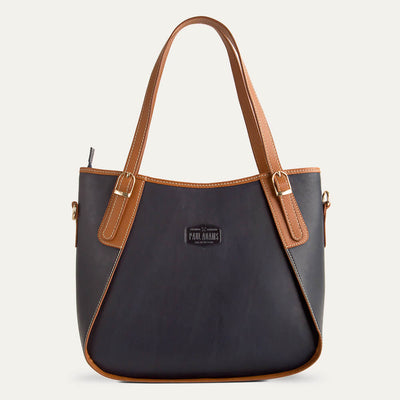 Rhea soft Napa leather handbag for women in Royal Blue. Shop at Paul Adams.