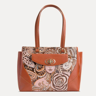 Saffi handbag by Paul Adams in Cognac Tan, fit for office and all-day looks.