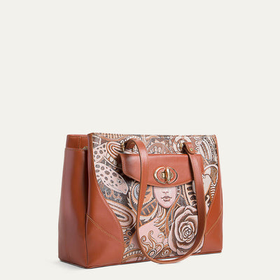 Saffi shoulder handbag in Cognac Tan for women. Available at Paul Adams.