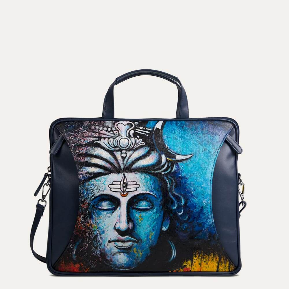 Shiva portfolio bag for office and evening uses for men. Available at the world of Paul Adams.