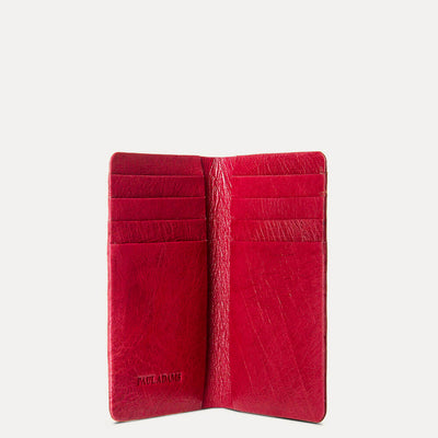 Berry Red Color Luxury ATM Card Folder for Women by Paul Adams