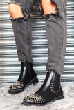 Chelsea Boots with Silver Studs