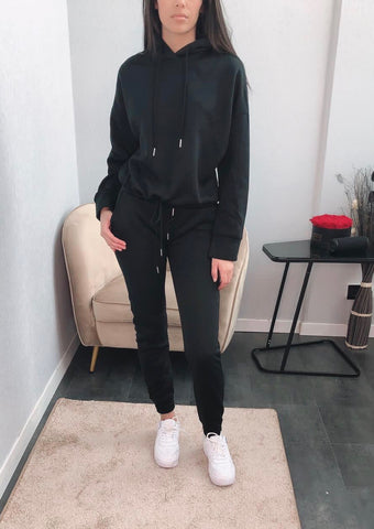 Hoody Tracksuit in Black