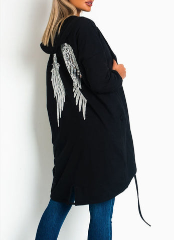 Angel Sequence Jacket in Black