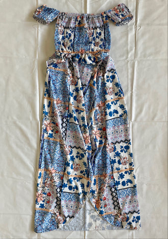 Floral Printed Dress in Blue
