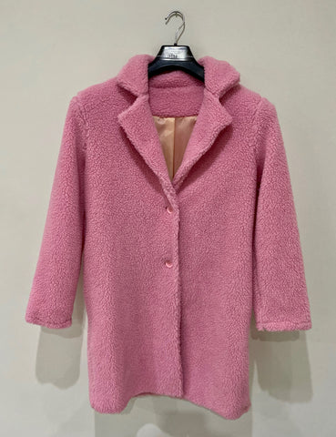 Teddy Bear Coat in Pink
