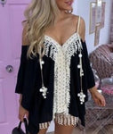 Tassel Short Set in Black