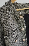 Gold Buttoned Tweed Jacket