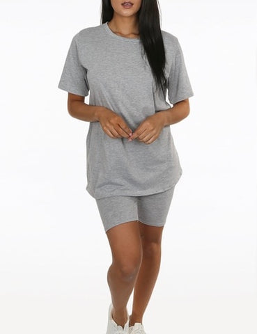 Cycle Shorts Set in Grey