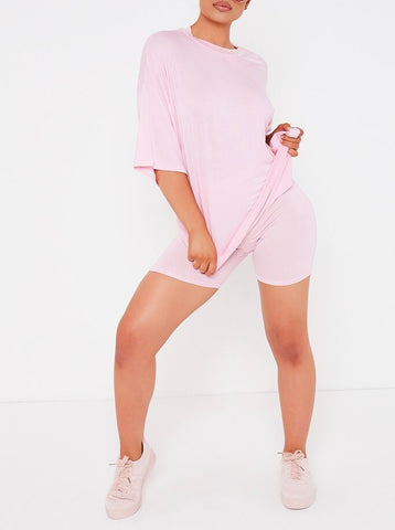 Cycle Shorts Set in Pink