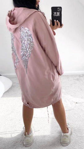 Angel Sequence Jacket in Pink