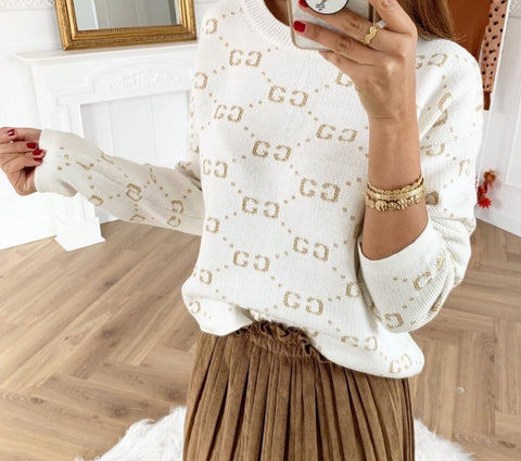 GC Printed Jumper in White