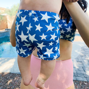 Baby Soft Swim Shorties | Stars and Stripes