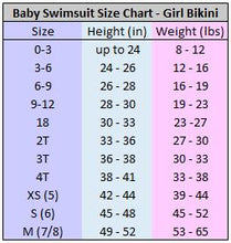 Load image into Gallery viewer, BEBE Baby Bikini | (Reversible) Purple Mermaid + Navy