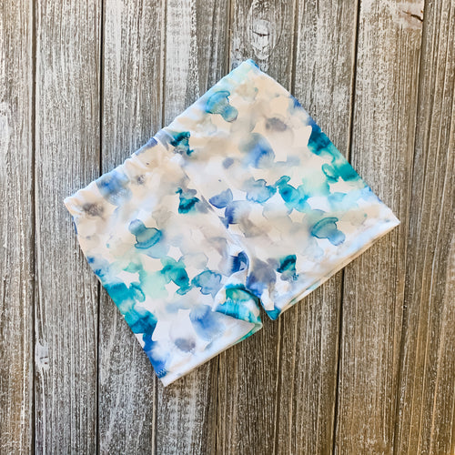 Baby Soft Swim Shorties | Blue Watercolor