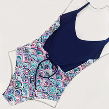 Load image into Gallery viewer, Aria One Piece | (Reversible) Mermaid + Navy