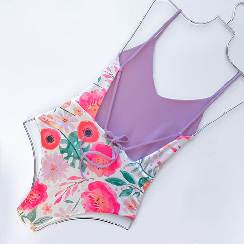 Aria One Piece | (Reversible) Spring Flower + Lavender