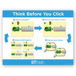 JiJi Think Before You Click Poster: Set of 4