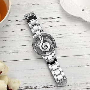 Fashion Hollow Music Note Notation Watch For Men & Women