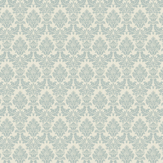 Broken String Damask Cream/Teal - 25061
