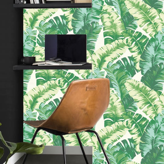 Banana Palm Design Green - B