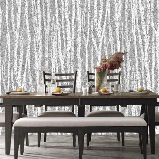Birch Tree Design Black