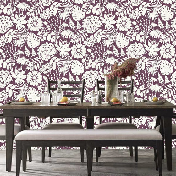 Bold Floral Design Berry - BW023