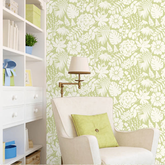 Bold Floral Design Green