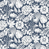 Bold Floral Design Navy Blue - BW027