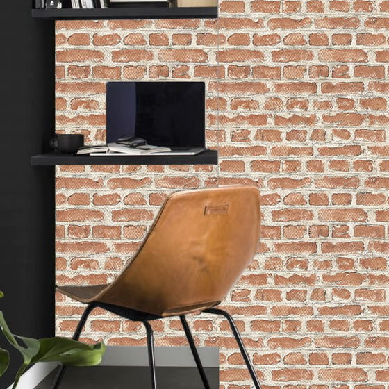 Brooklyn Brick Design Red