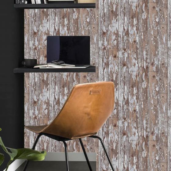 Cabin Wood Design Brown / Grey - BW040