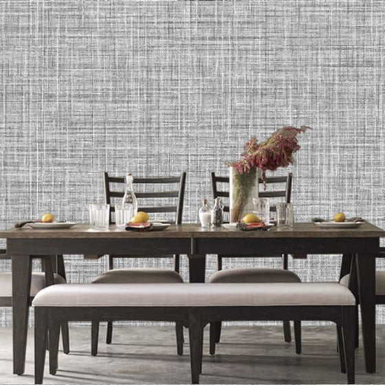 Crosshatch Texture Design Ebony - BW050