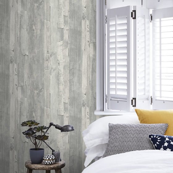 Distressed Wood Design Grey