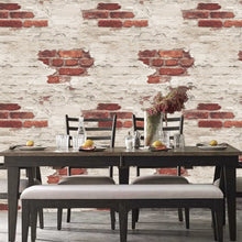 Distressed White Brick Design
