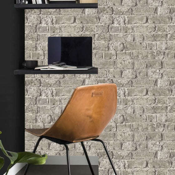Farm Brick Design Grey