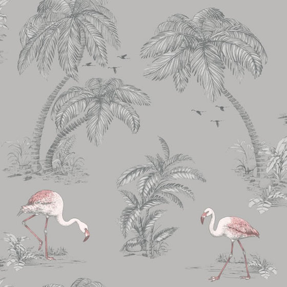Flamingo Lake Design Grey