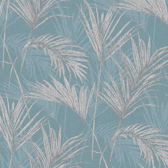 Palm Design Teal Blue