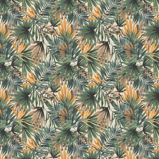 Palm Design Green / Orange