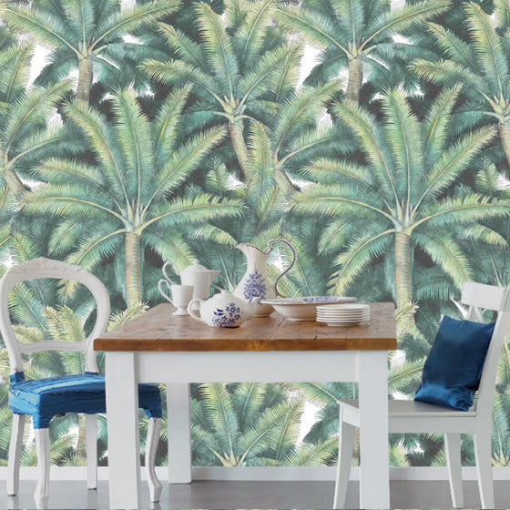 Palms Fronds Design Green