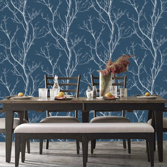 Silhouette Tree Design Navy