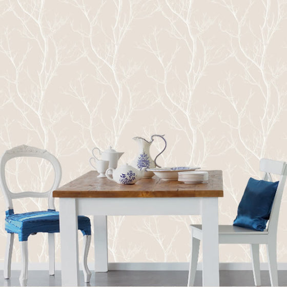 Silhouette Tree Design Taupe
