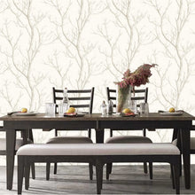 Silhouette Tree Design White