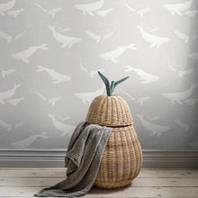 Whales Pale Grey Design - 7452