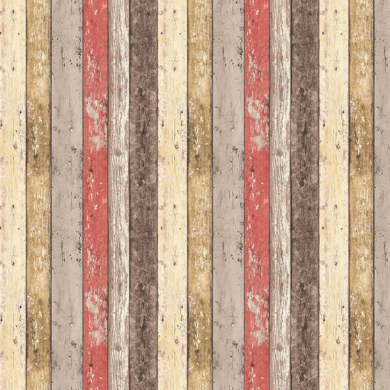 Panelling Wood Design Red
