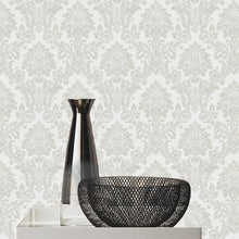 String Damask Grey/Silver - 25023