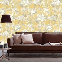 Lagoon Flamingo Design Mustard
