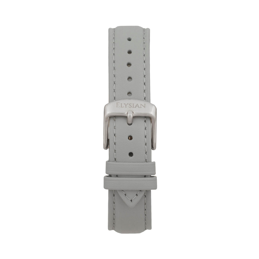 Gray Leather Strap - Silver
