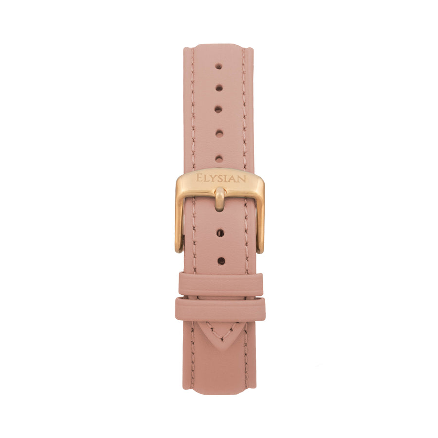 Rose Leather Strap - Rose gold