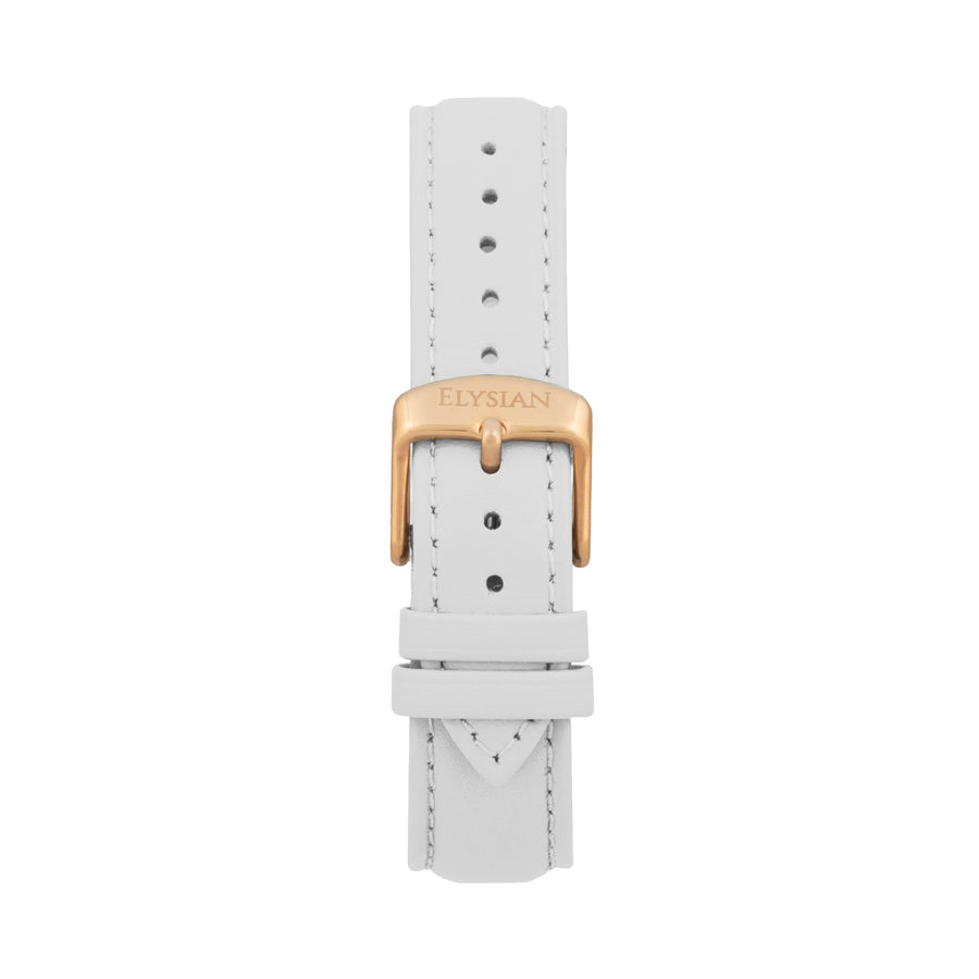 White Leather Strap - Rose gold